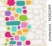vector speech bubble background ... | Shutterstock .eps vector #562822309