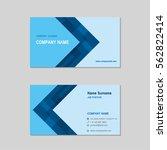 modern simple business card set ... | Shutterstock .eps vector #562822414