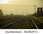 Rural Railway - stock photo