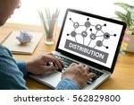 distribution  fintech...   Shutterstock . vector #562829800