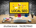 local seo | Shutterstock . vector #562829860