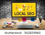 local seo | Shutterstock . vector #562829860