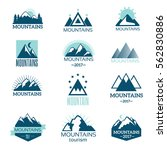 mountain symbol vector set   Shutterstock .eps vector #562830886