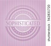 sophisticated retro pink emblem