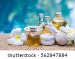 bottle of aroma essential oil...   Shutterstock . vector #562847884