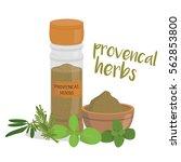 vector provencal herbs... | Shutterstock .eps vector #562853800