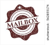 Red Mailbox Rubber Grunge Stamp