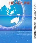 blue global template for... | Shutterstock .eps vector #562864414