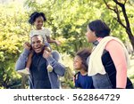 exercise activity family... | Shutterstock . vector #562864729