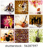 musical background | Shutterstock .eps vector #56287597