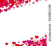 valentines day background with... | Shutterstock . vector #562881148