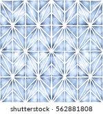 shibori style watercolor... | Shutterstock . vector #562881808
