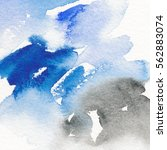 abstract watercolor painting.... | Shutterstock . vector #562883074
