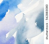 abstract watercolor painting.... | Shutterstock . vector #562883080