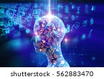 virtual human 3dillustration on ... | Shutterstock . vector #562883470