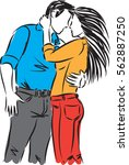 couple man and woman...   Shutterstock .eps vector #562887250