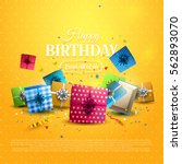 colorful gift boxes and... | Shutterstock .eps vector #562893070