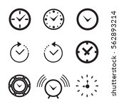 clock icon isolated. time logo  ... | Shutterstock .eps vector #562893214