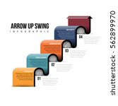 vector illustration of arrow up ... | Shutterstock .eps vector #562899970