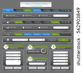 web site design menu navigation ...