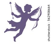 cupid with bow and arrow ... | Shutterstock .eps vector #562908664