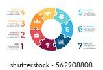 vector circle arrows puzzle... | Shutterstock .eps vector #562908808