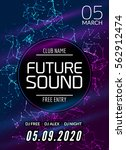 future sound music party... | Shutterstock .eps vector #562912474