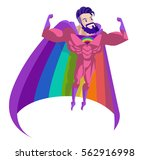 cute rainbow colorful hero... | Shutterstock .eps vector #562916998