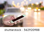 man use mobile phone  blur... | Shutterstock . vector #562920988