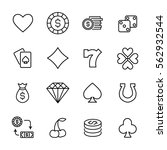 set of gambling in modern thin... | Shutterstock .eps vector #562932544
