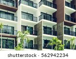 condominium and swiming pool... | Shutterstock . vector #562942234