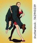 stock illustration. people in... | Shutterstock .eps vector #562943239