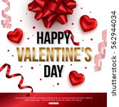 happy valentines day card...   Shutterstock .eps vector #562944034