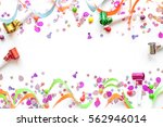 concept birthday party on white ... | Shutterstock . vector #562946014