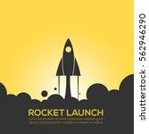 Rocket Launch Design Icon...
