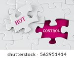 white puzzle with void in the... | Shutterstock . vector #562951414