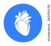 heart icon in black style... | Shutterstock .eps vector #562954150