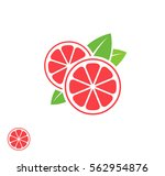 grapefruit. abstract fruit on... | Shutterstock .eps vector #562954876