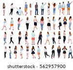 """collection """" back view people """"....   Shutterstock . vector #562957900"""
