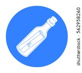 message in the bottle icon in... | Shutterstock .eps vector #562958260