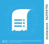 document icon | Shutterstock .eps vector #562959790