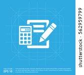 calculation icon | Shutterstock .eps vector #562959799