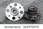 car suspension and car bearing... | Shutterstock . vector #562970470