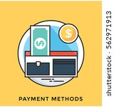 payment methods vector icon | Shutterstock .eps vector #562971913