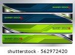 banner abstract tech background ... | Shutterstock .eps vector #562972420
