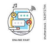 online chat vector icon | Shutterstock .eps vector #562972744