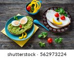 kids healthy meal  colorful and ... | Shutterstock . vector #562973224