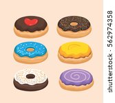 donut vector with love | Shutterstock .eps vector #562974358