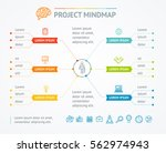 project mindmap chart for... | Shutterstock .eps vector #562974943