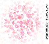 heart bokeh abstract background ... | Shutterstock .eps vector #562975690